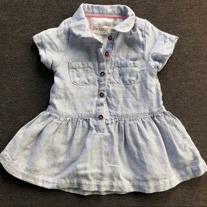 Light Blue Button-Up Baby Dress